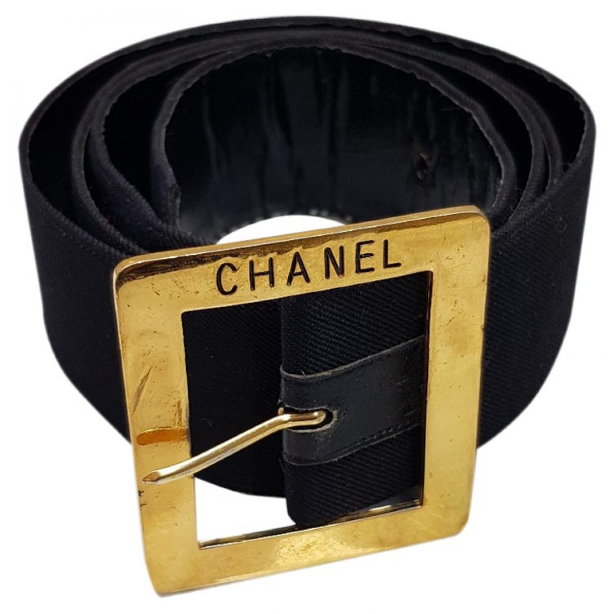 Chanel \N Black Cotton belt for Women 85 cm