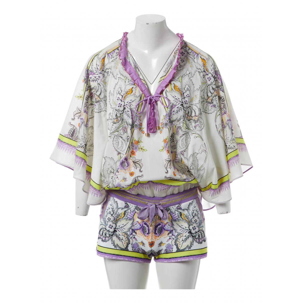 Roberto Cavalli \N White Cotton jumpsuit for Women S International