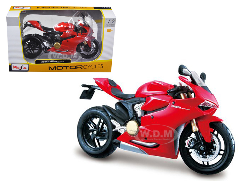 Ducati 1199 Panigale Red 1/12 Motorcycle by Maisto