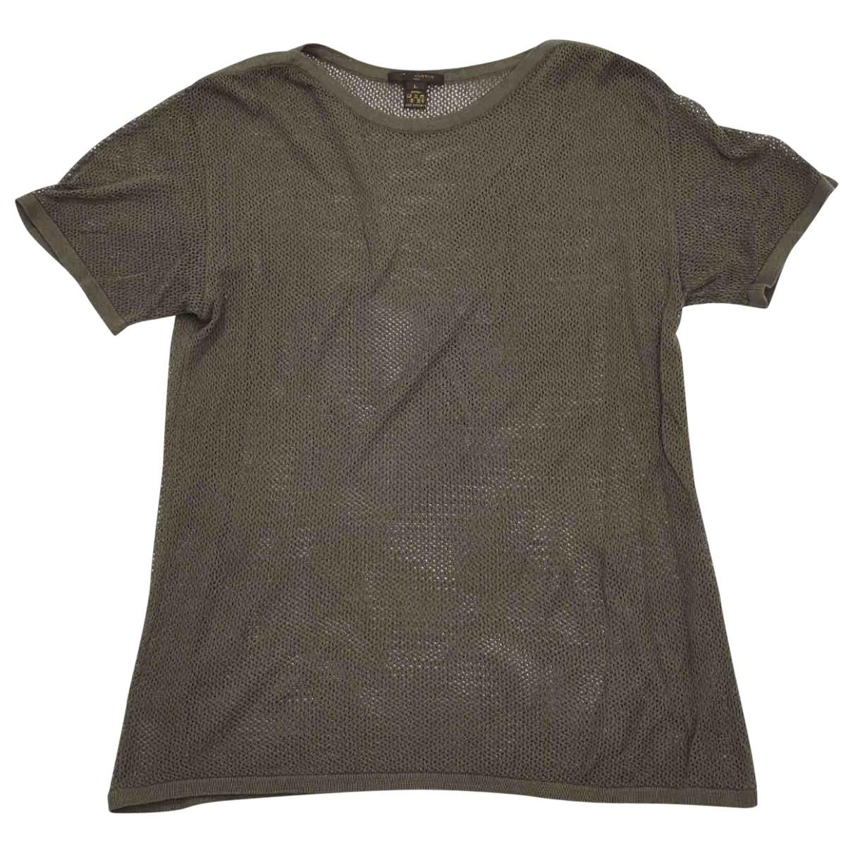 Louis Vuitton \N Khaki Cotton T-shirts for Men L International