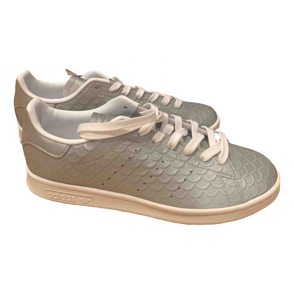 Adidas Stan Smith Grey Leather Trainers for Women 6.5 UK