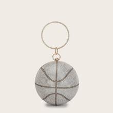 Mini Ball Shaped Rhinestone Clutch Bag