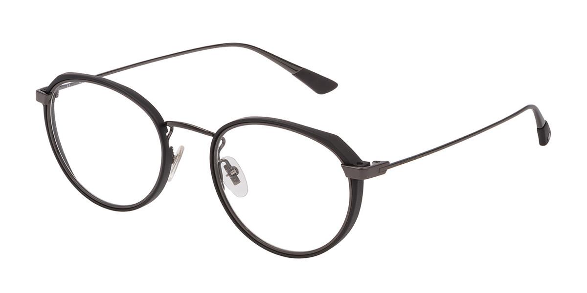 Police VPL803 FLOAT 4 0568 Men's Glasses Black Size 51 - Free Lenses - HSA/FSA Insurance - Blue Light Block Available
