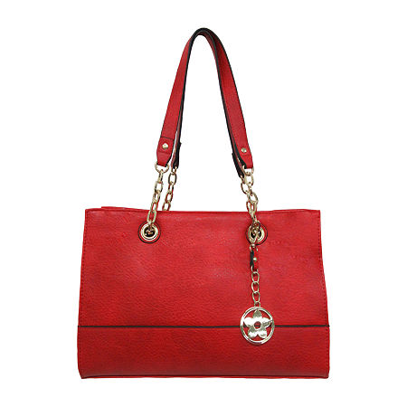 Bueno of California Elephant Pebble Tote Bag, One Size , Red