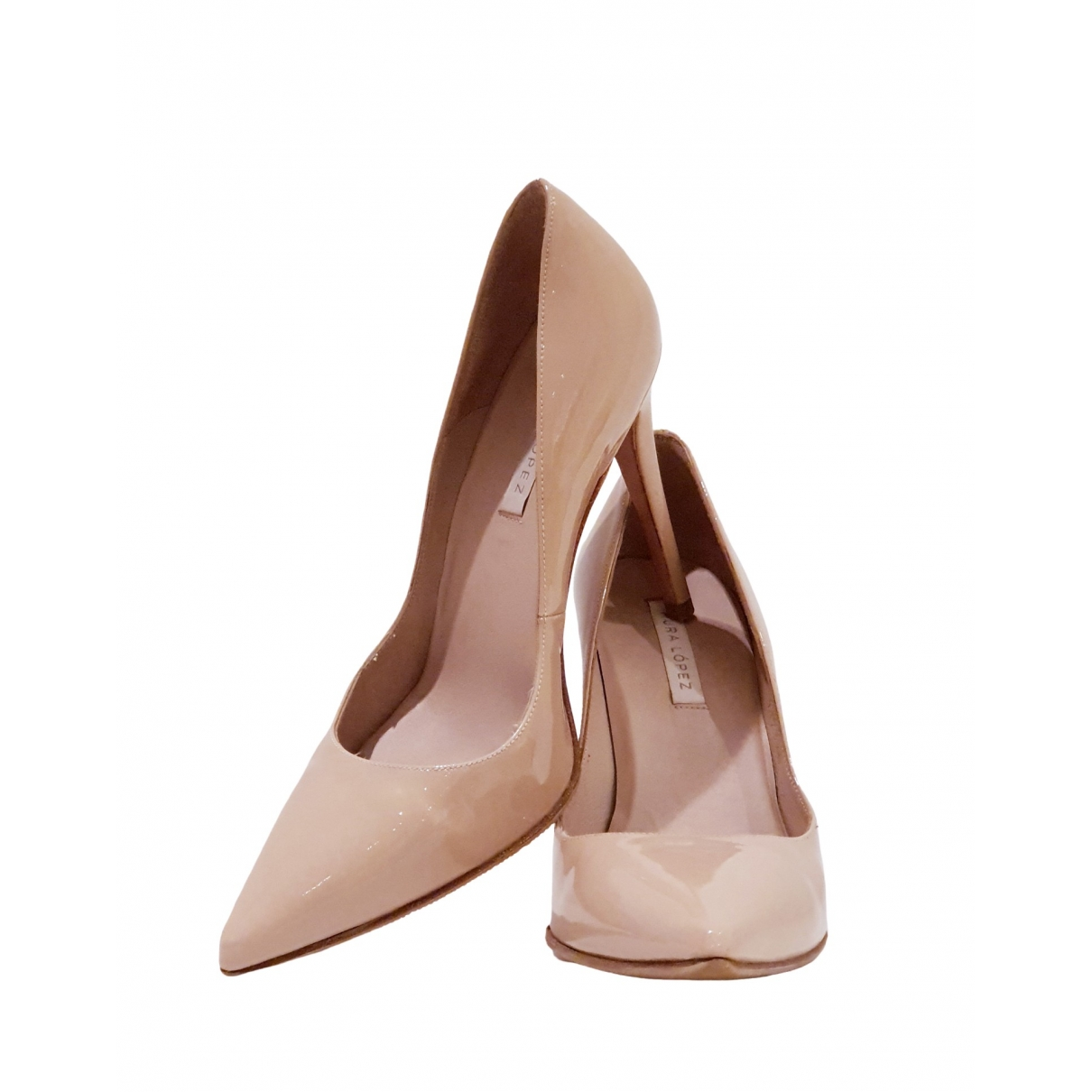 Non Signé / Unsigned \N Beige Patent leather Heels for Women 37 EU