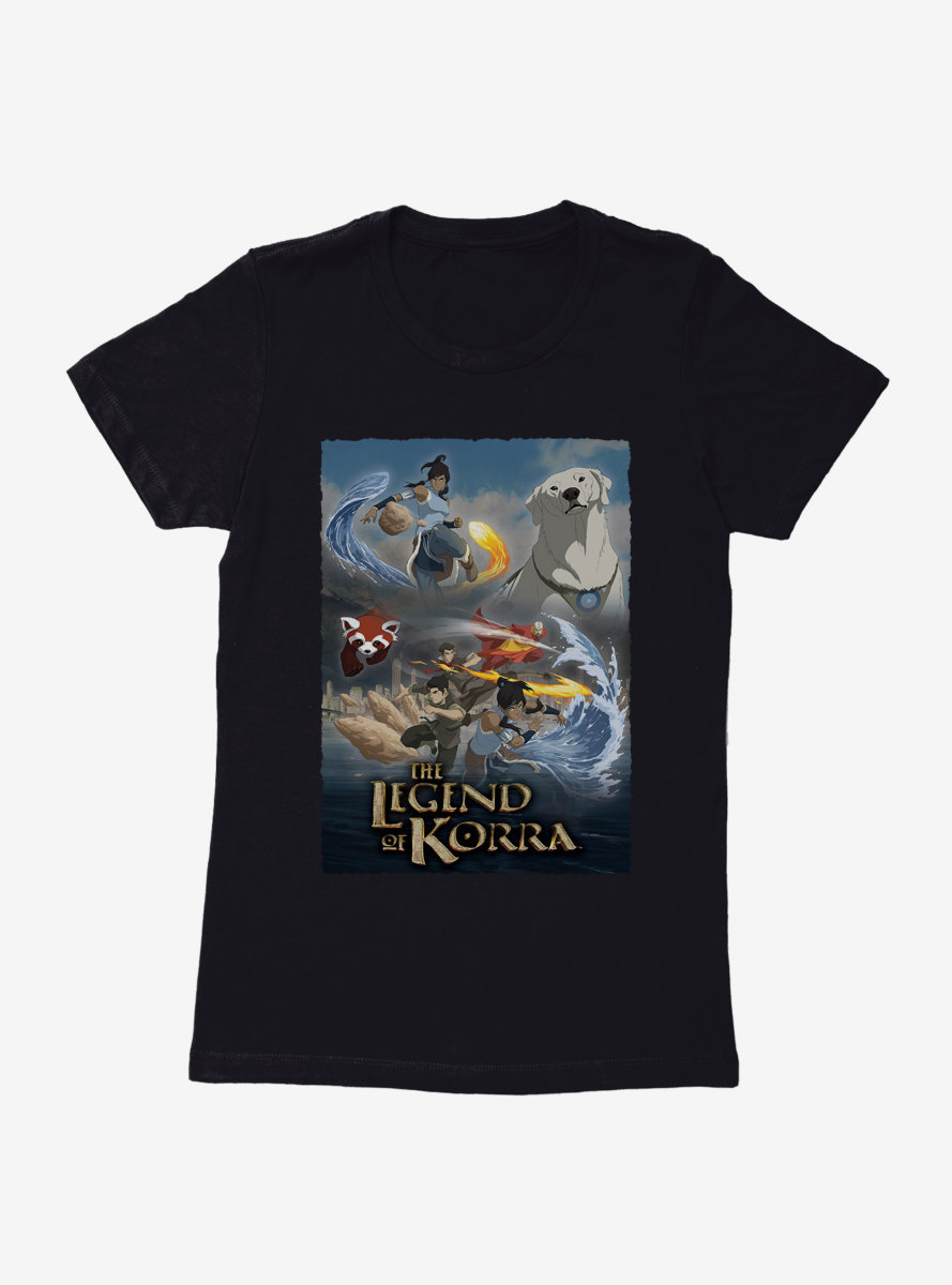 The Legend Of Korra Master Benders Womens T-Shirt