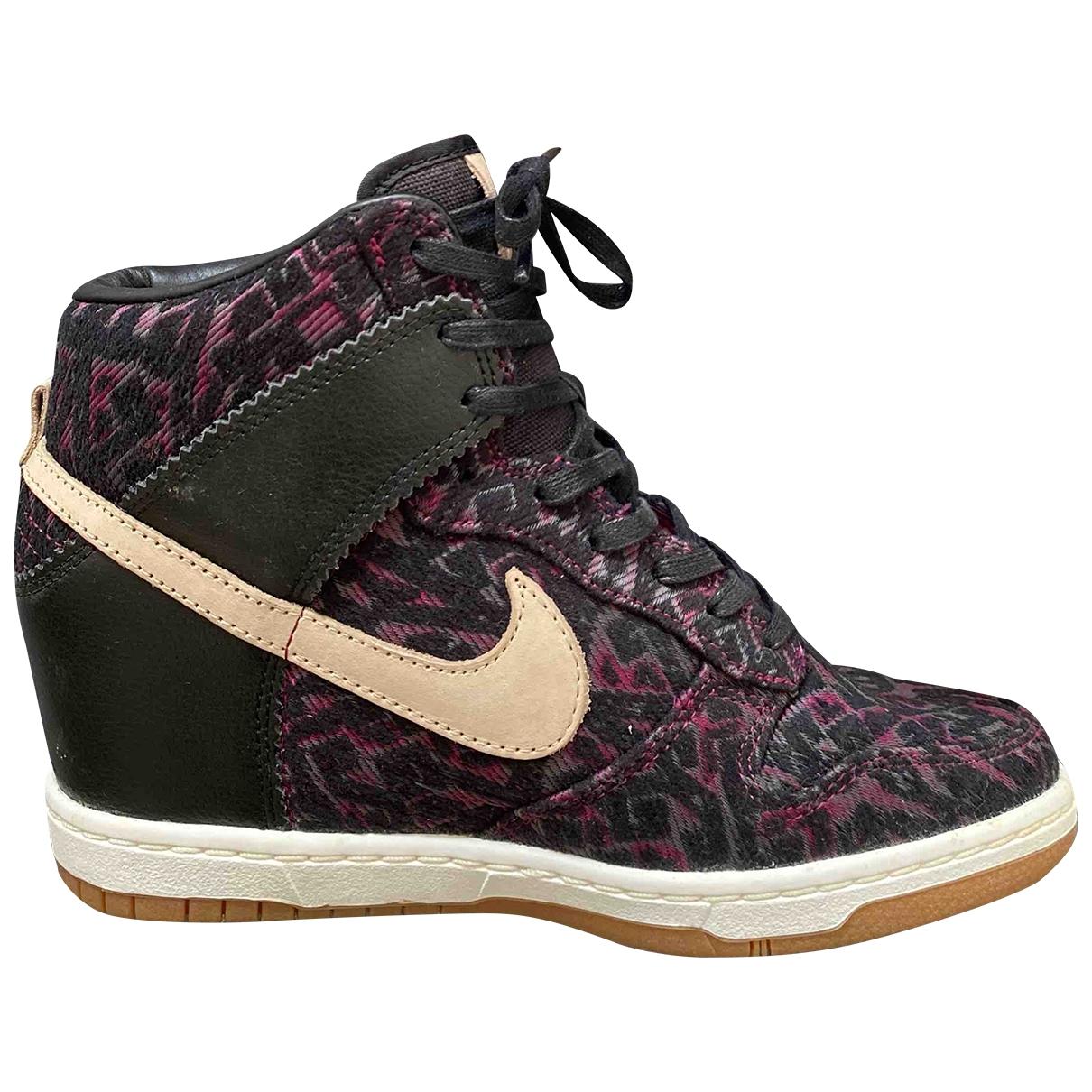 Nike - Baskets Dunk Sky pour femme en cuir - multicolore