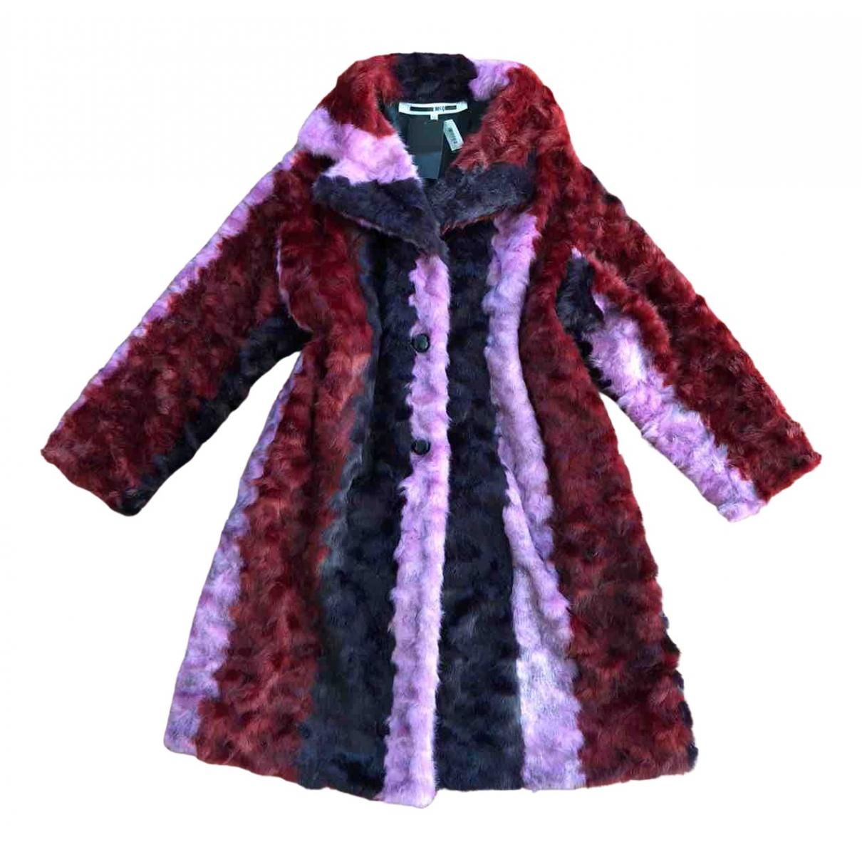 Mcq N Multicolour Faux fur coat for Women 40 IT