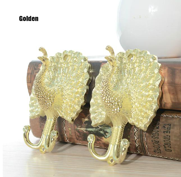 Vintage Peacock Shape European Style 2-piece Hook