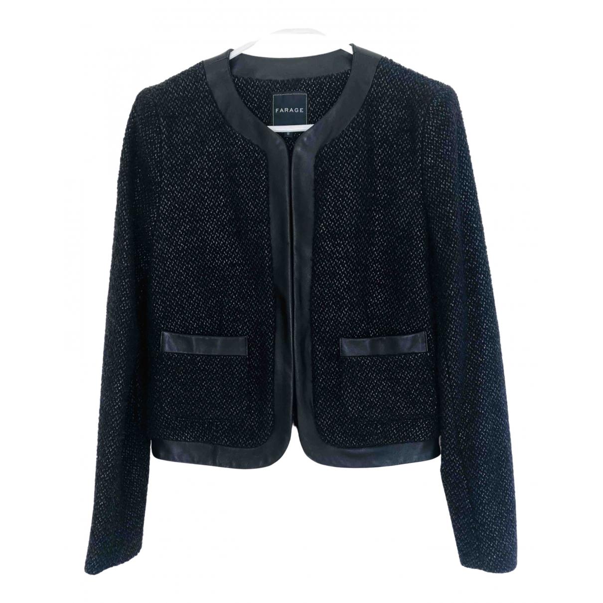 - Veste   pour femme en tweed - noir