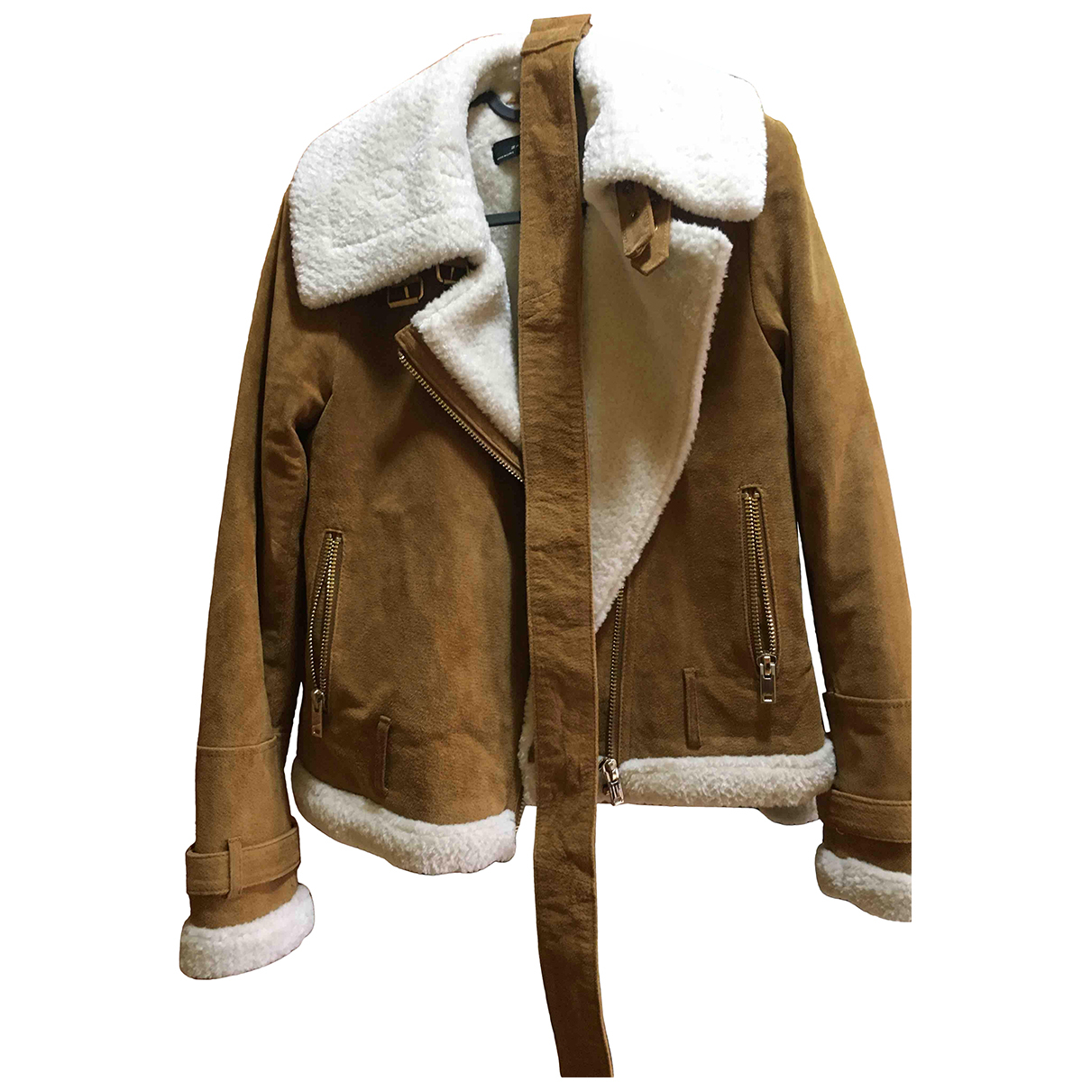 Zara \N Camel Leather jacket for Women XS International