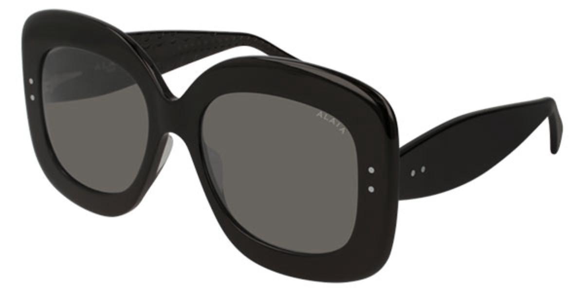 Azzedine Alaia AA0007S 001 Women's Sunglasses Black Size 54
