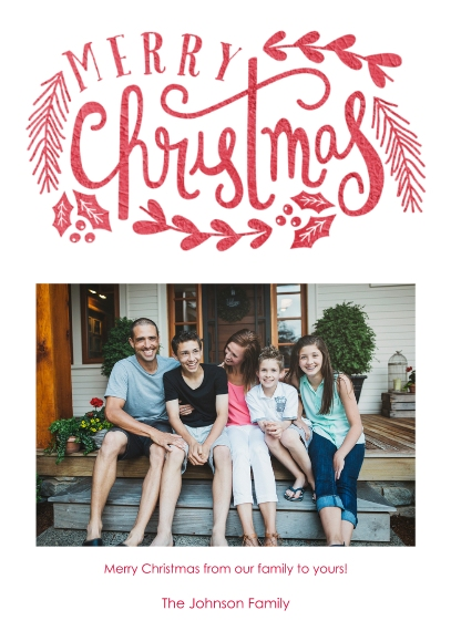 Christmas Photo Cards Mail-for-Me Premium 5x7 Folded Card , Card & Stationery -Enchanted Wishes