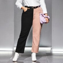 Plus High Waist Two Tone Jeans Without Belt