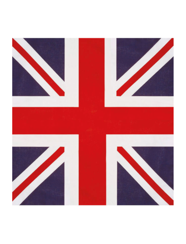 Kostuemzubehor Bandana UK Farbe: rot/blau