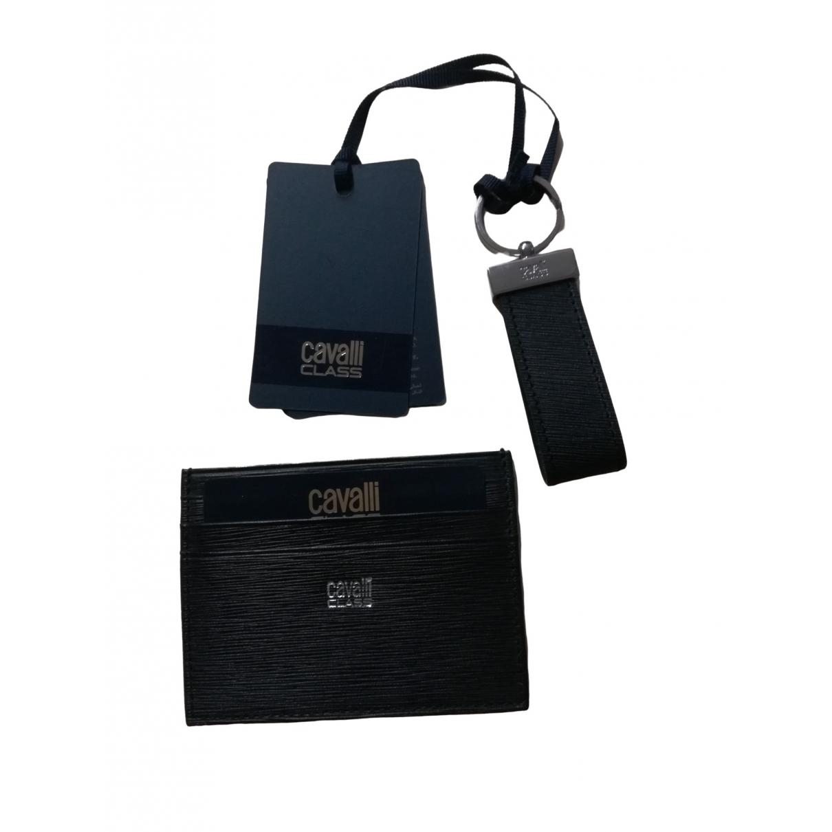 Class Cavalli - Petite maroquinerie   pour homme en cuir - noir