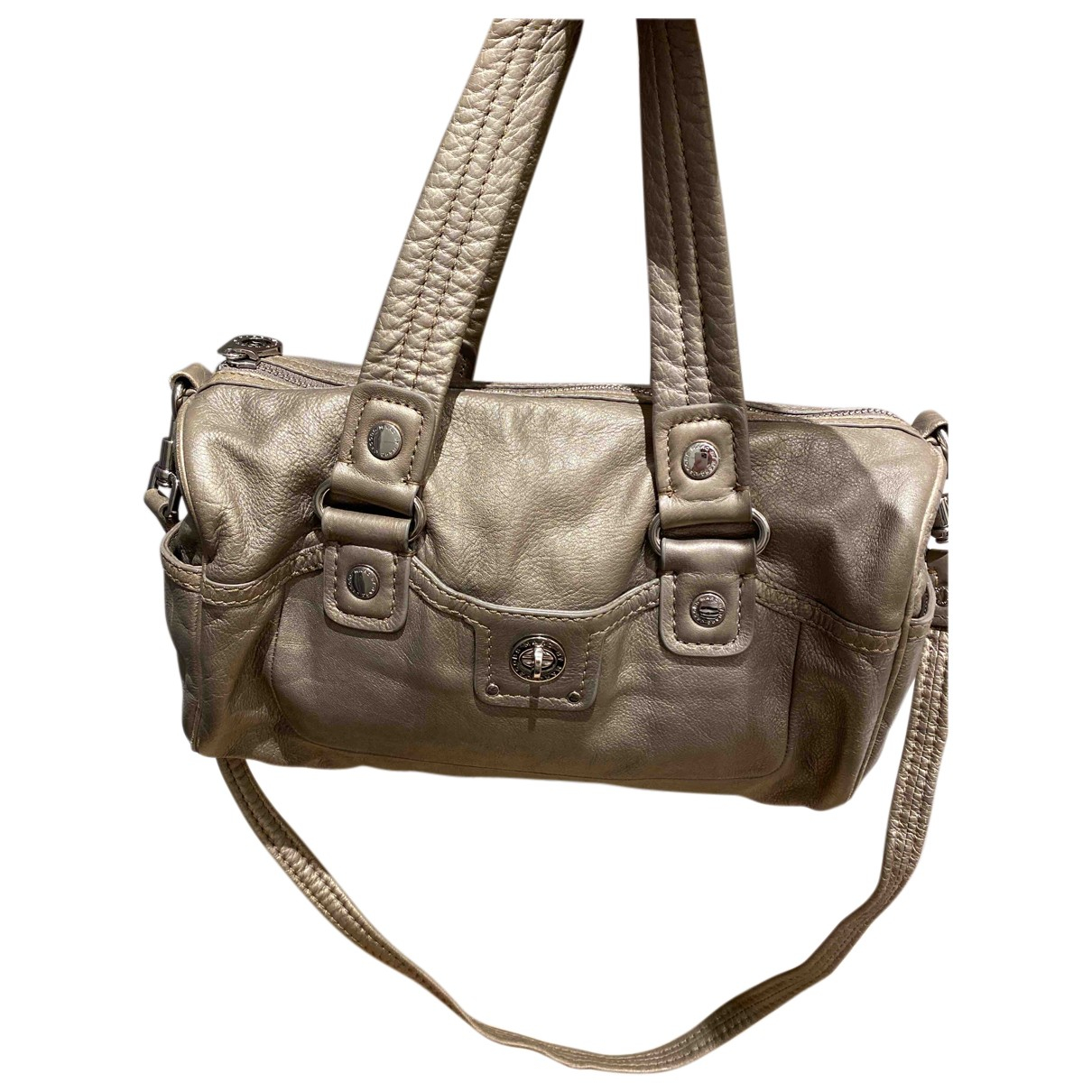 Marc By Marc Jacobs Too Hot to Handle Gold Leather handbag for Women N