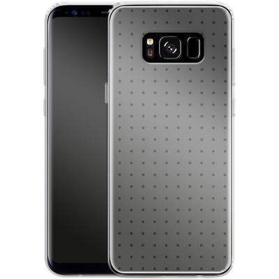 Samsung Galaxy S8 Silikon Handyhuelle - Dot Grid Grey von caseable Designs