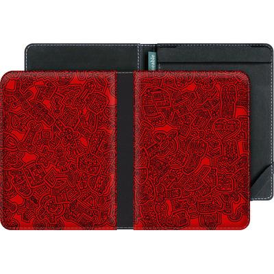 tolino vision eBook Reader Huelle - Red Black von Mattartiste