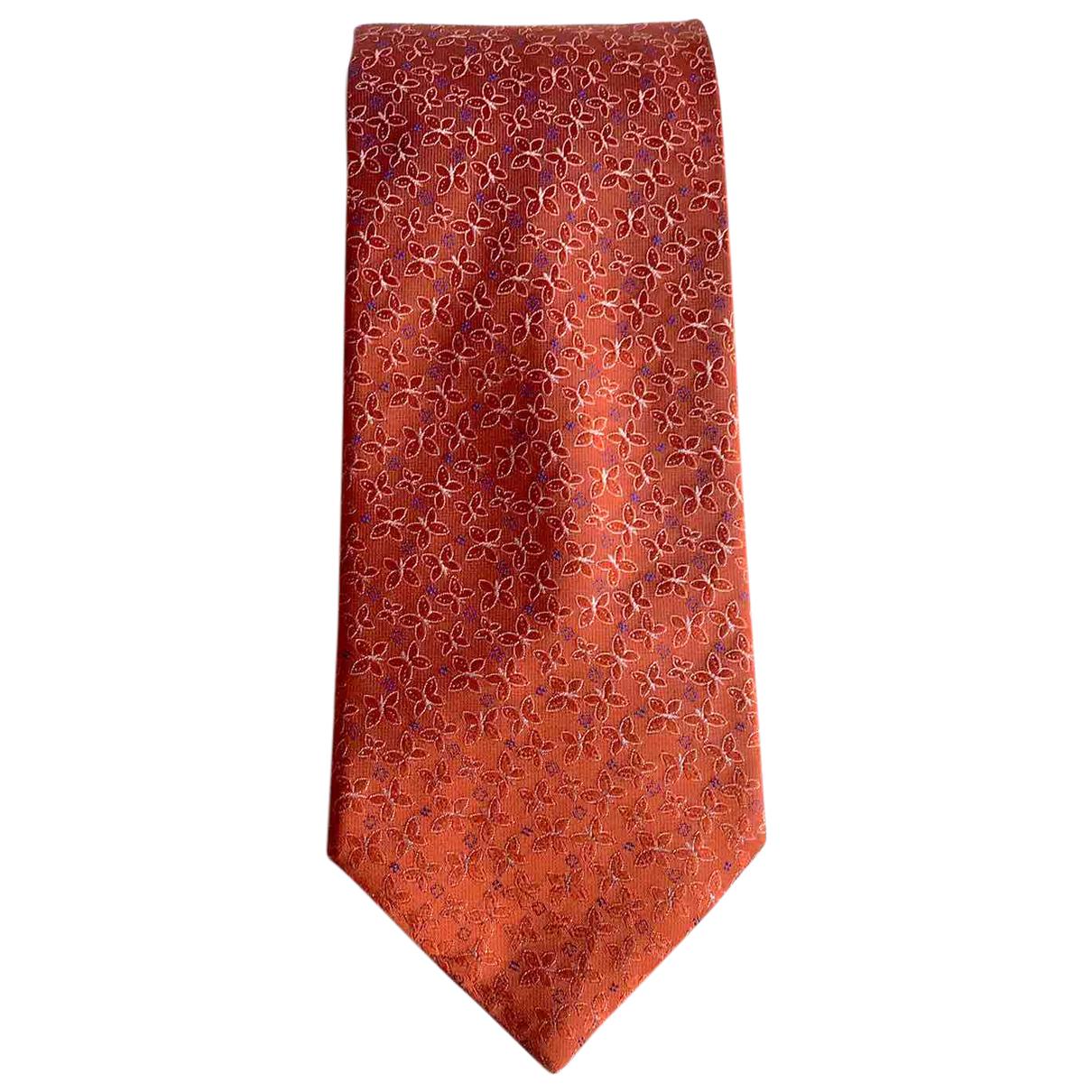 Lanvin - Cravates   pour homme en soie - orange