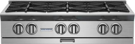BSPRT366B 36 Platinum Series Gas Rangetop with 6 Open Burners  PrimaNova 25 000 BTU Burner  130F Simmer  Heavy-Duty Control Knobs  Integrated Wok