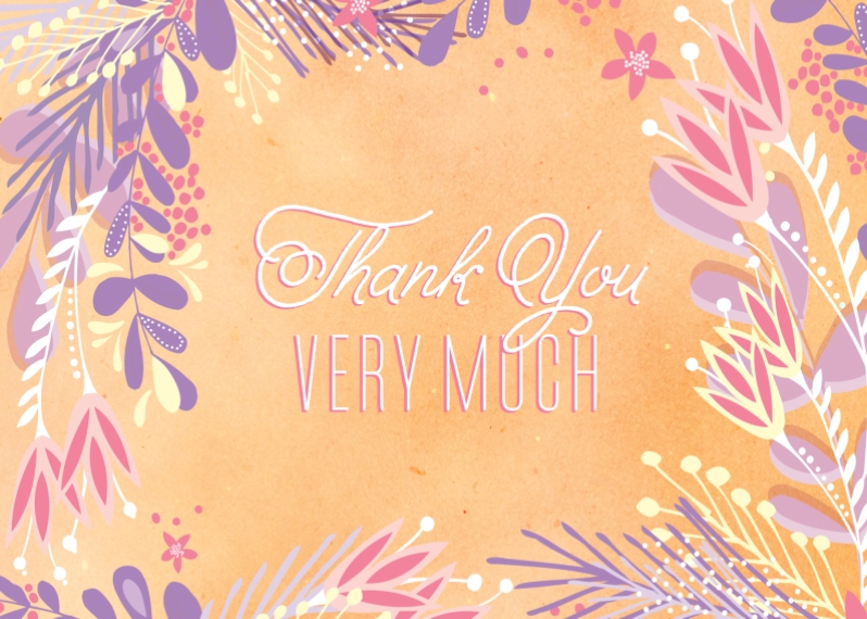 Thank You Cards 5x7 Folded Cards, Premium Cardstock 120lb, Card & Stationery -Summer Solstice Thank You