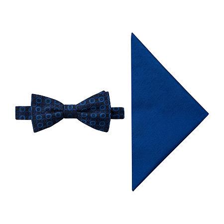 JF J.Ferrar Geometric Bow Tie Set, One Size , Blue