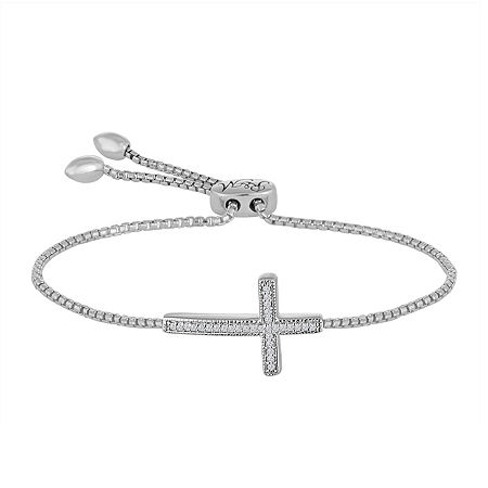 Rhythm and Muse Diamond Accent Sterling Silver Cross Bracelet, One Size , No Color Family