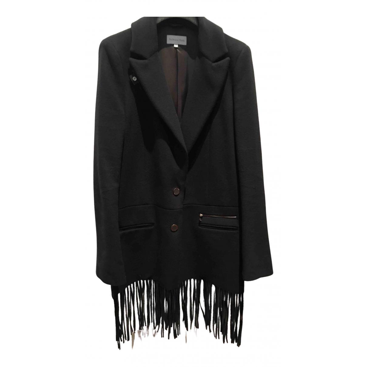 Patrizia Pepe N Navy Wool coat for Women 44 IT