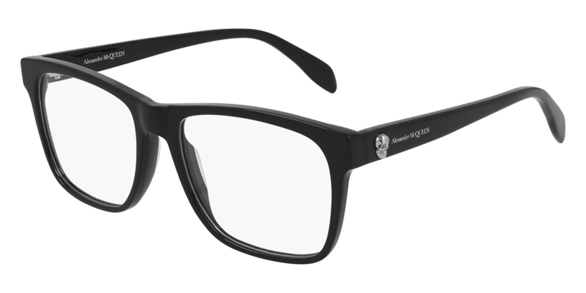 Alexander McQueen AM0282O 001 Mens Glasses Black Size 55 - Free Lenses - HSA/FSA Insurance - Blue Light Block Available