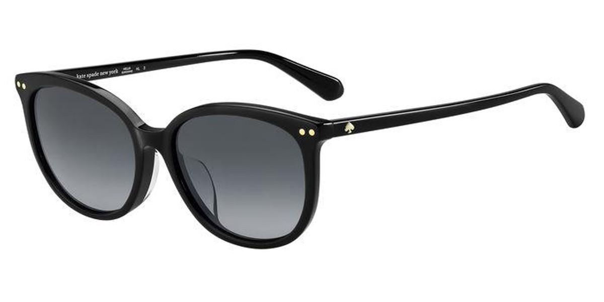 Kate Spade ALINA/F/S Asian Fit 807/9O Women's Sunglasses Black Size 55