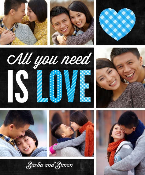 Love Sherpa Blanket, 50x60, Gift -All You Need is Love