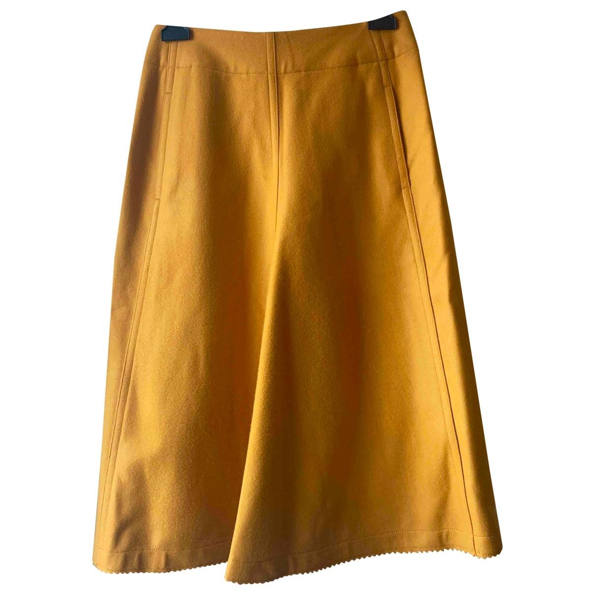 Lemaire - Jupe   pour femme en laine - jaune