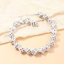 Dice Beaded Necklace