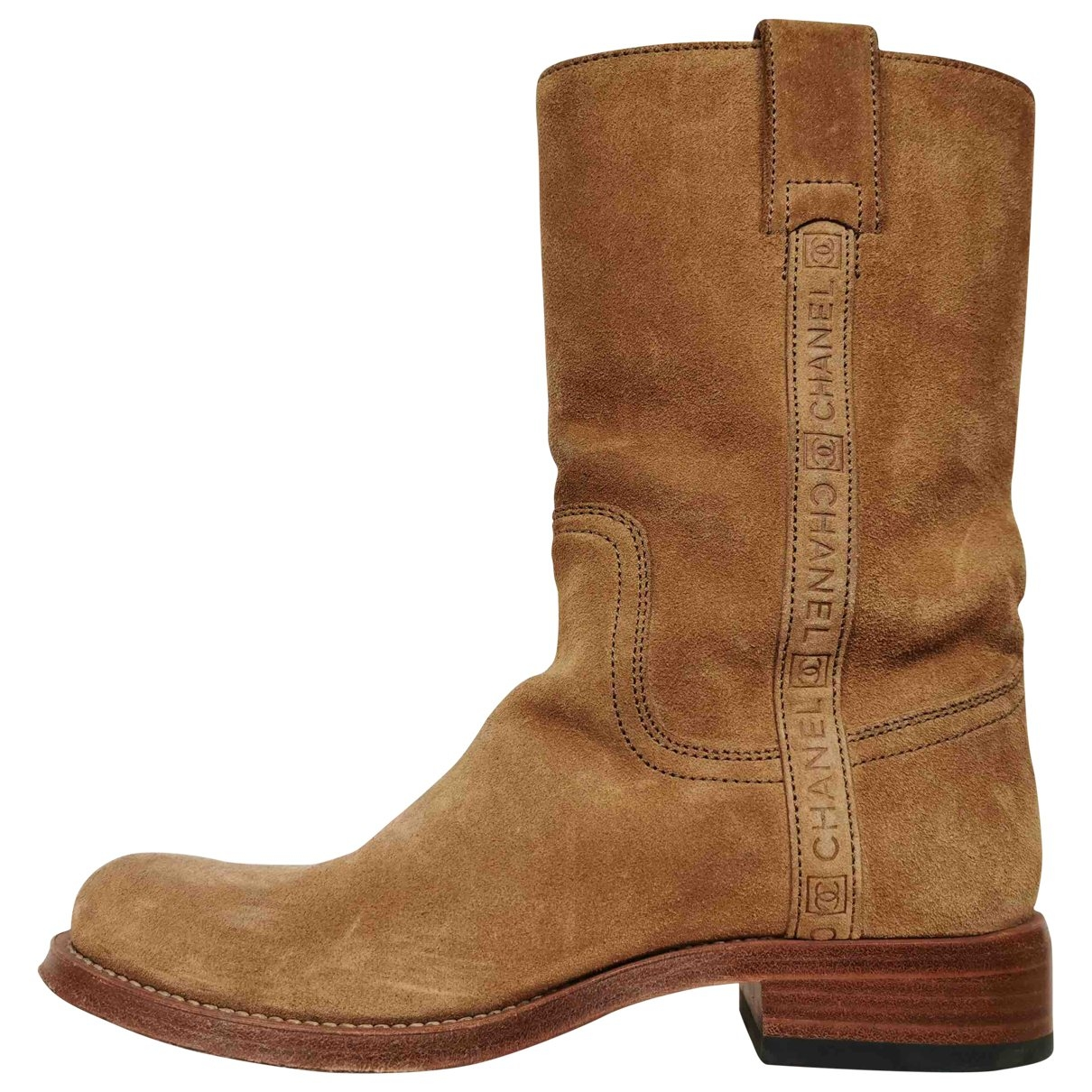 Chanel \N Camel Suede Ankle boots for Women 37 EU