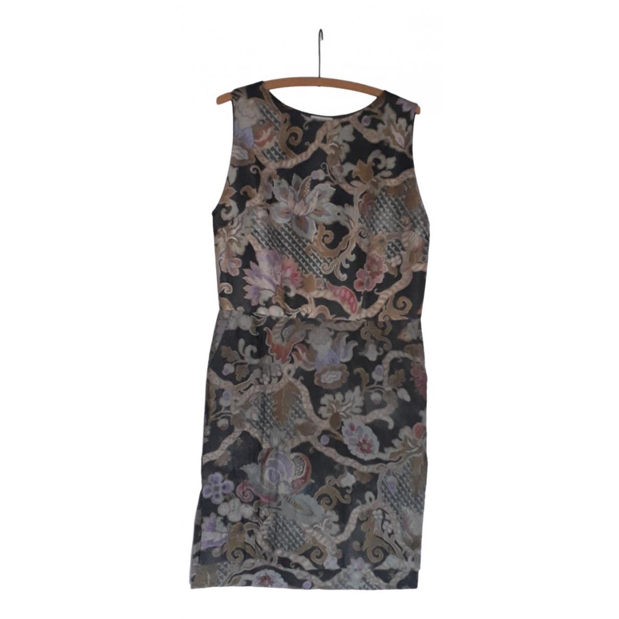 Dries Van Noten \N Kleid in  Grau Wolle