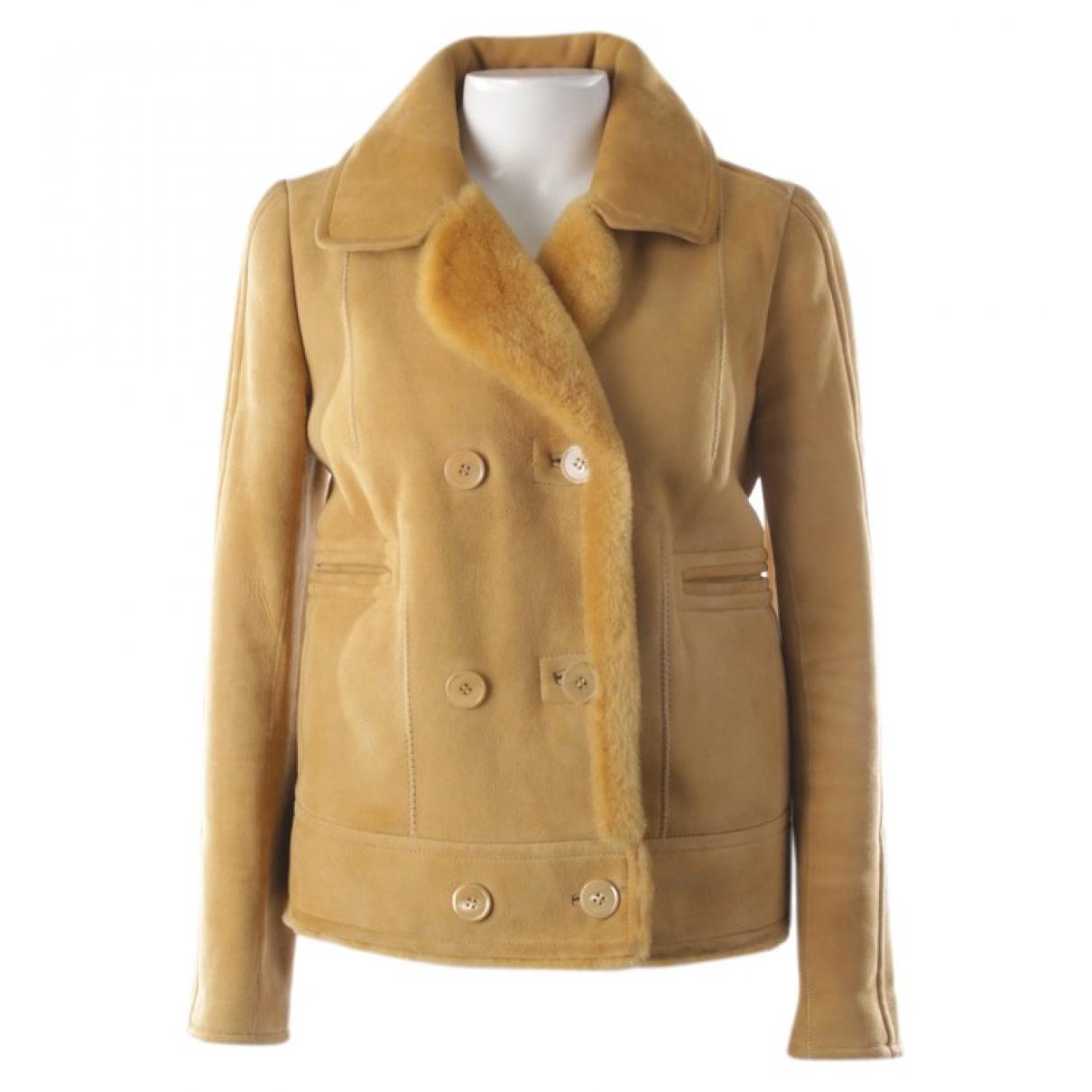 Carven \N Yellow Fur jacket for Women 36 FR