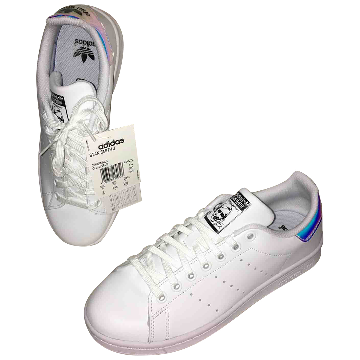 Adidas Stan Smith White Leather Trainers for Women 38.5 EU