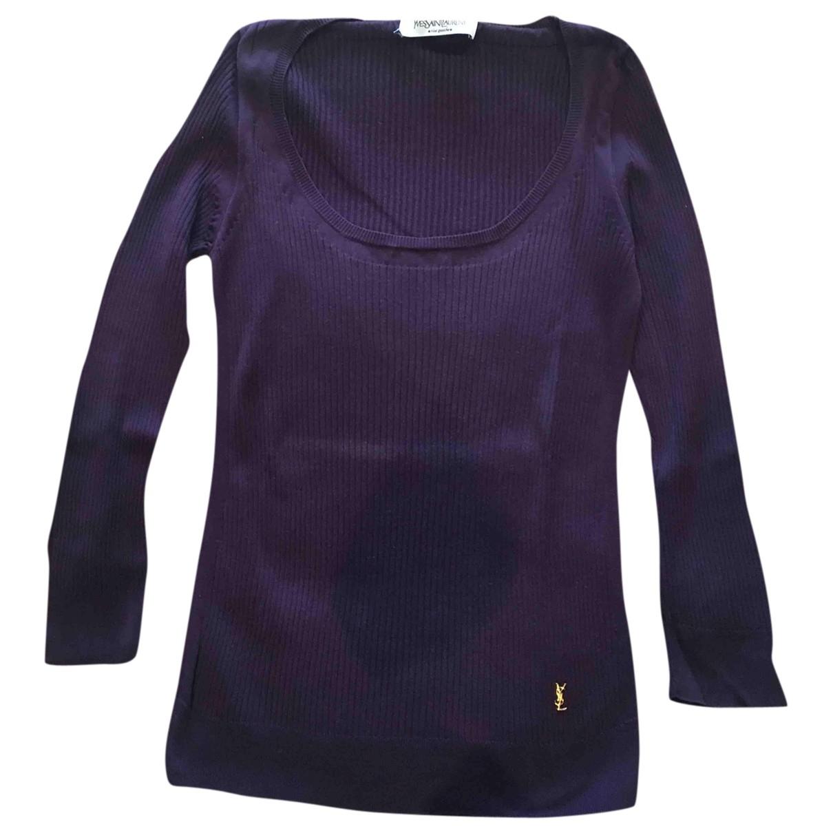Yves Saint Laurent - Pull   pour femme en coton - violet