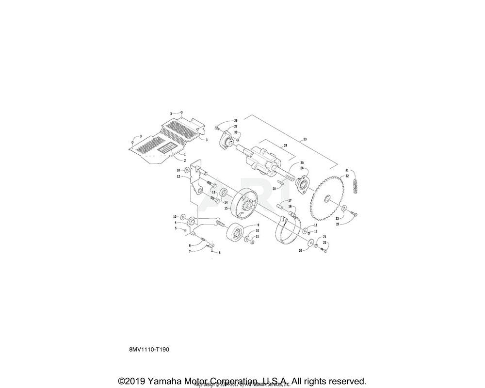 Yamaha OEM 8JM-RA123-00-00 BOLT, 5/16-18X0.75