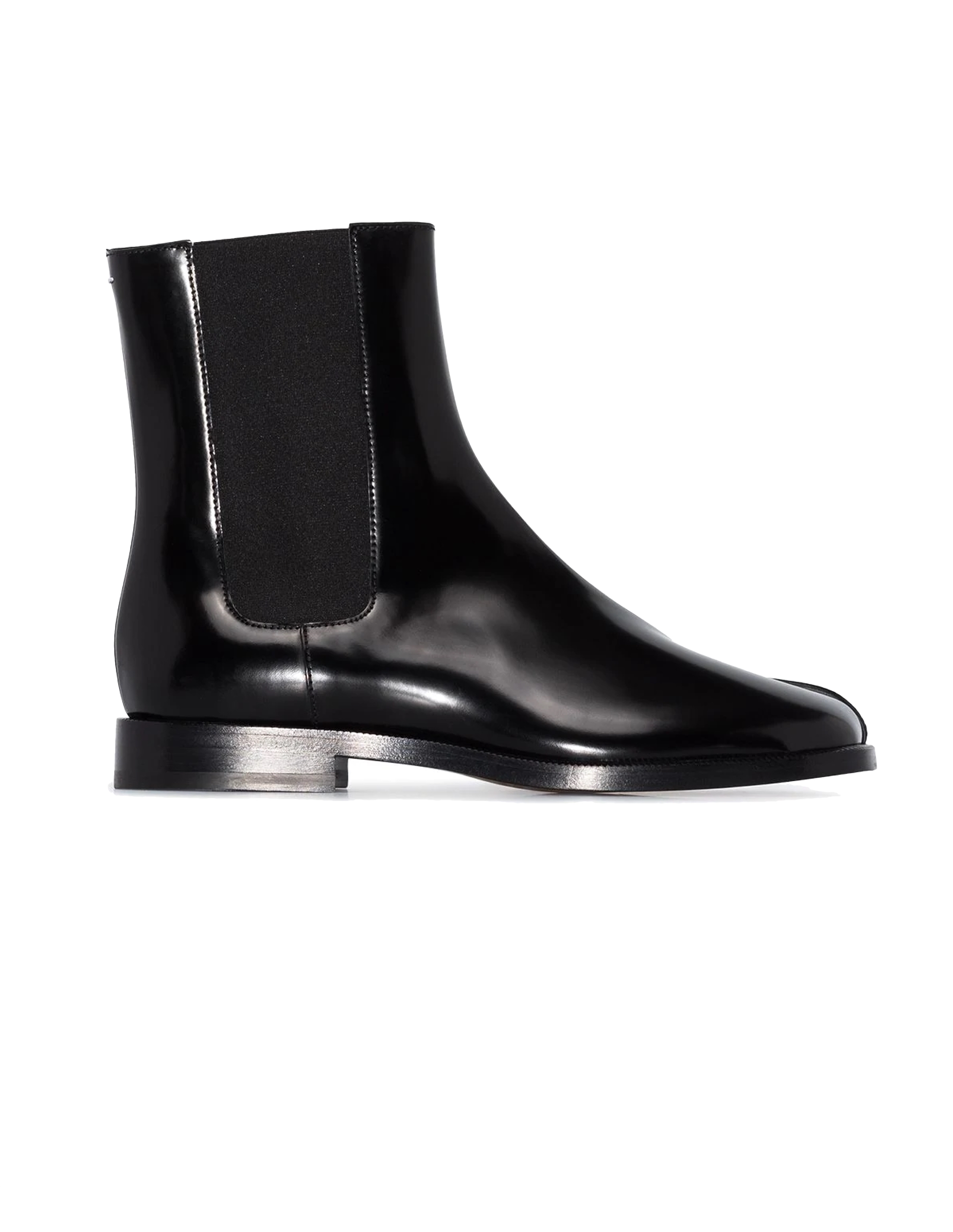 Maison Margiela Black Patent Leather Tabi Boots