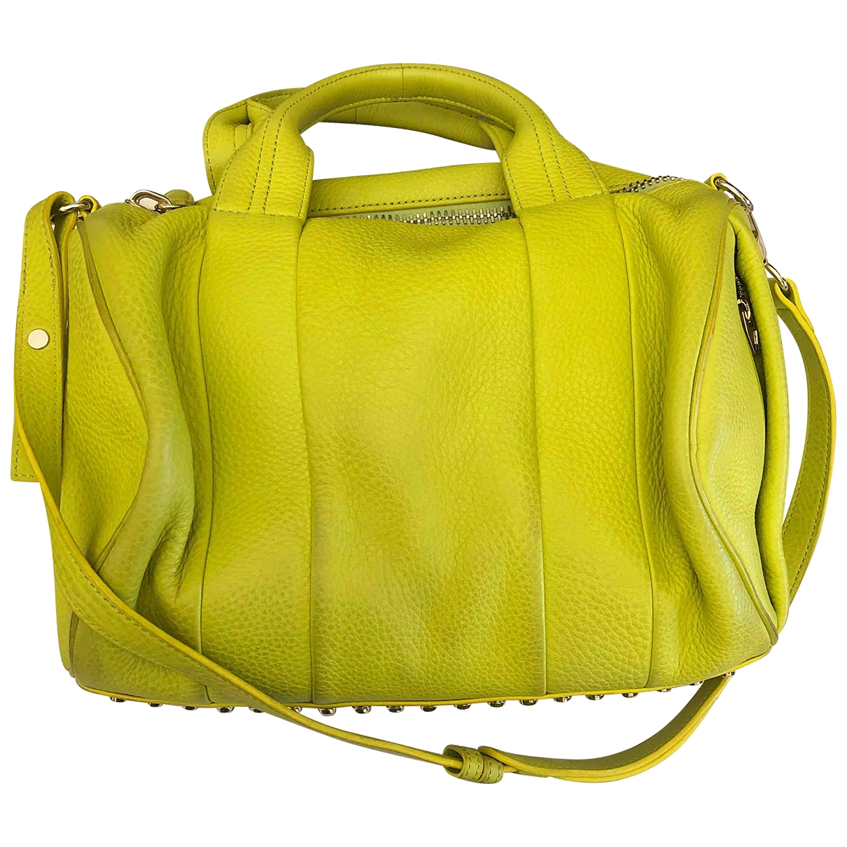 Alexander Wang \N Yellow Leather handbag for Women \N