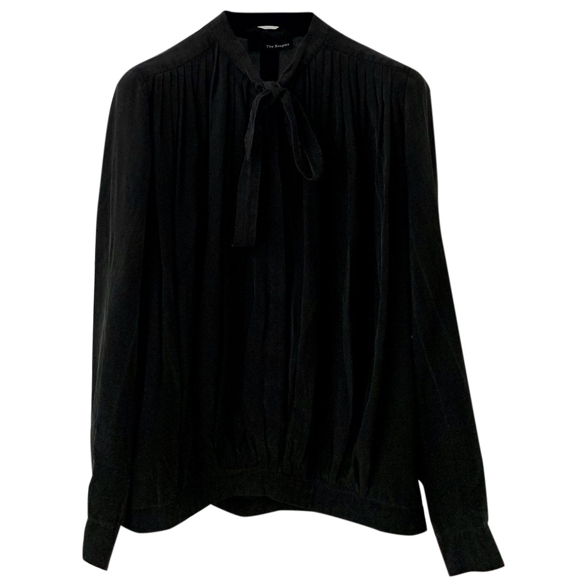 The Kooples \N Black Silk  top for Women XS International