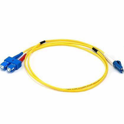 Fiber Optic Cable, LC/SC, Single Mode, Duplex (9/125) - Yellow - Monoprice® - 1m