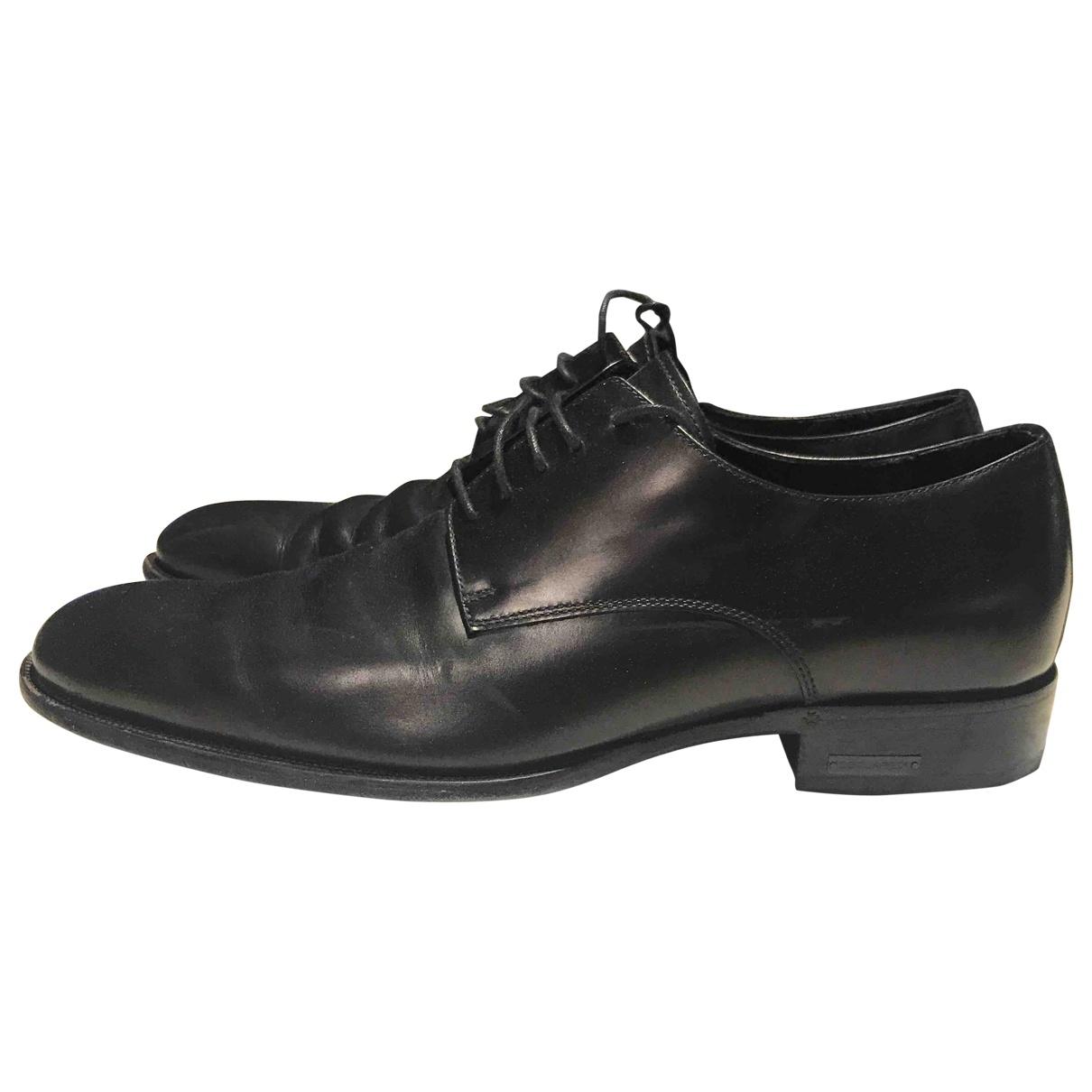 Dsquared2 \N Black Leather Lace ups for Men 42 EU