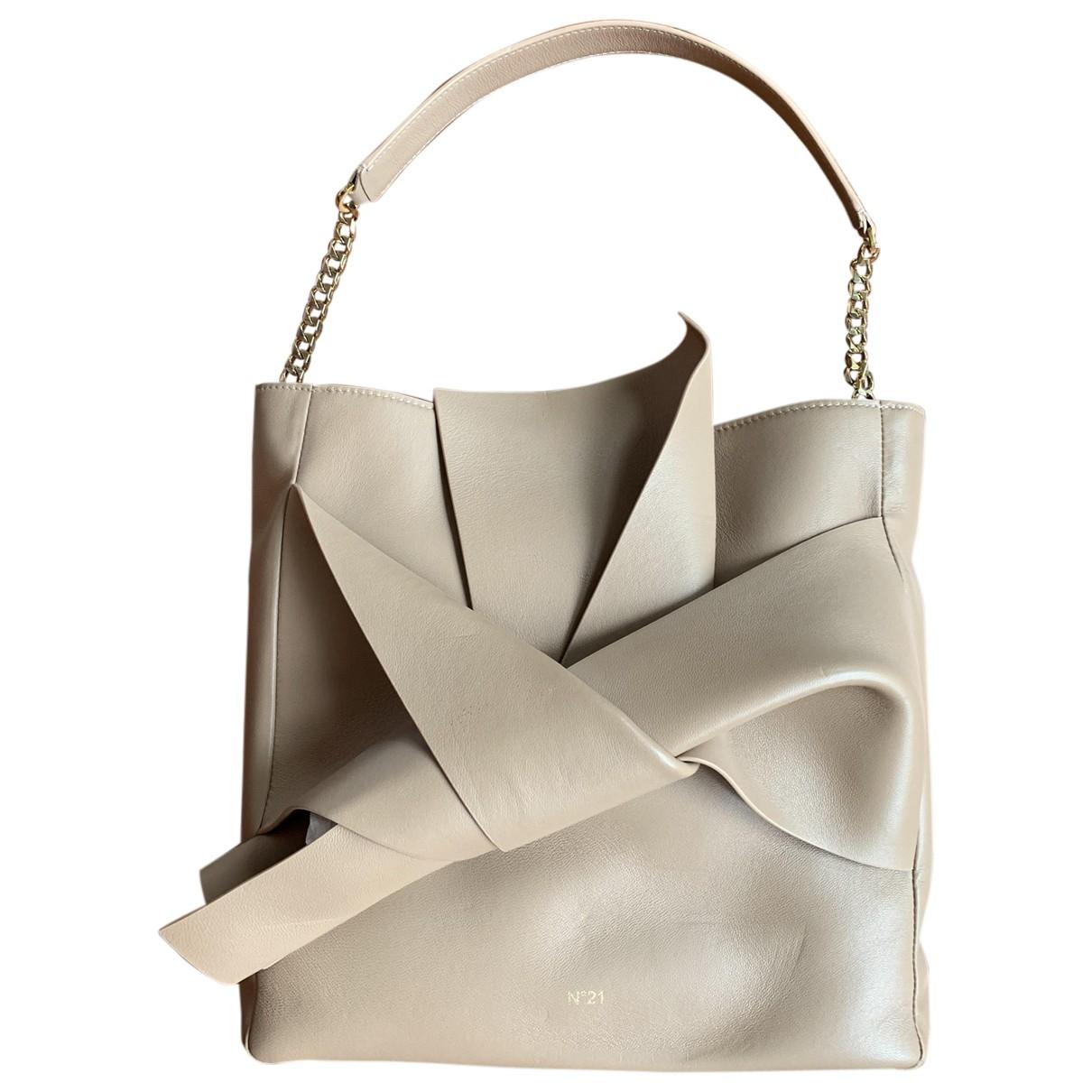 N°21 \N Beige Leather handbag for Women \N