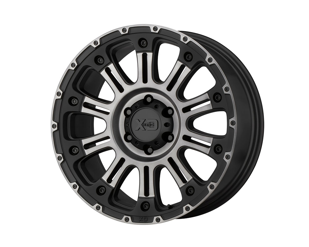 XD Series XD82979050412N XD829 Hoss II Wheel 17x9 5x5x127 -12mm Satin Black Machined Gray Tint