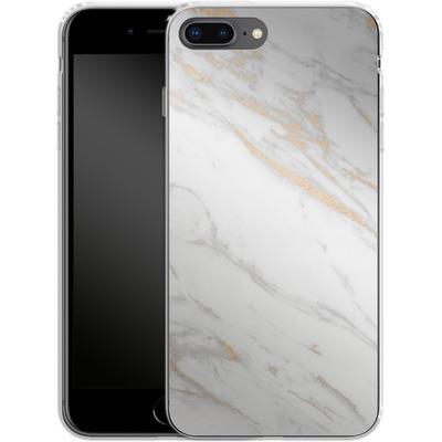 Apple iPhone 7 Plus Silikon Handyhuelle - Gold Marble Elegance von #basic