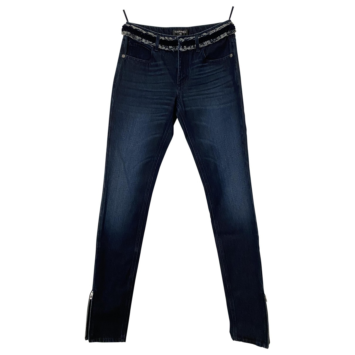 Chanel \N Blue Cotton Jeans for Women 36 FR