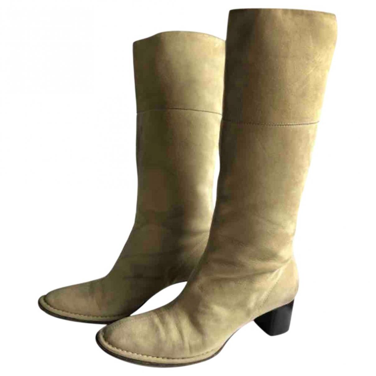 Bally - Bottes   pour femme en suede - beige